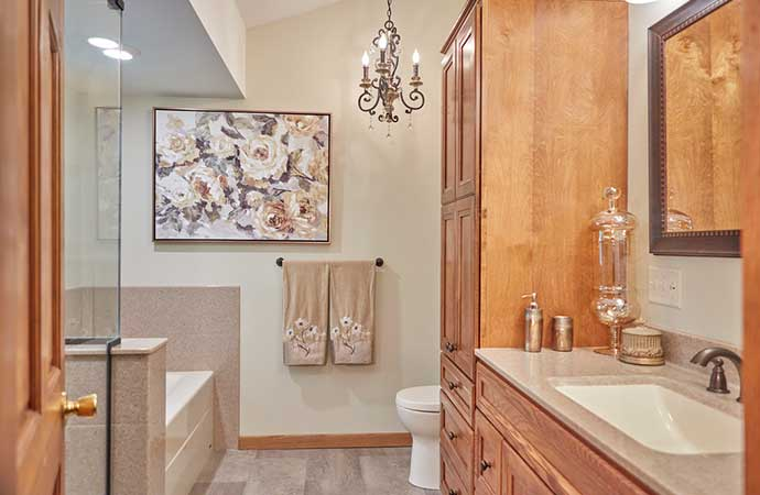 Master bathroom remodel in champlin