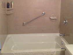 AFTER - New Onyx Surround with White Acrylic Tub